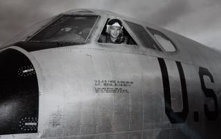 Brien Wygle piloting a Boeing B-52