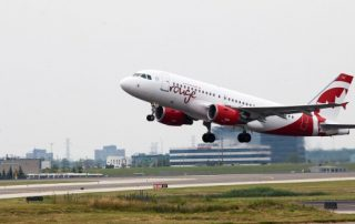 Air Canada rouge's first flight takes off – A319 from YYZ to KIN All photos courtesy: Air Canada rouge