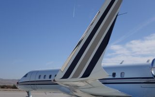 Winglet and contrail at Thermal Airport