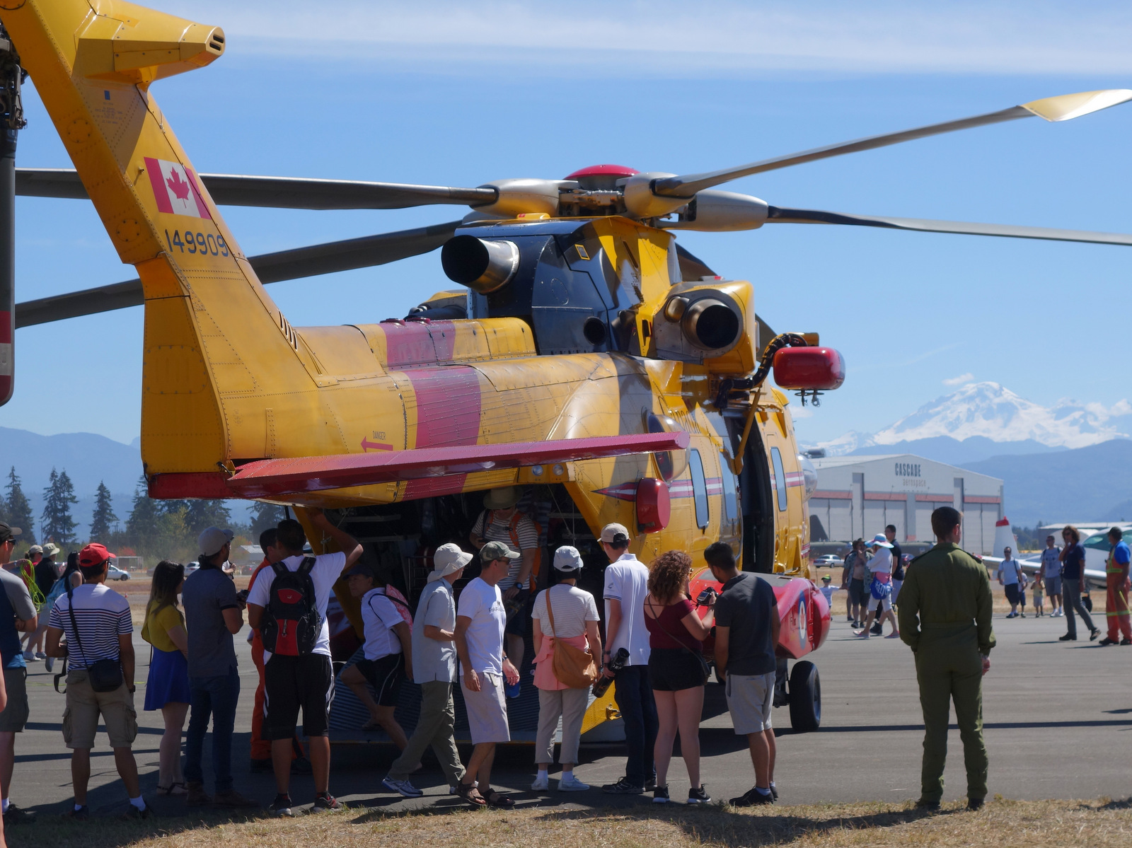 Crowds visit the RCAF Cormorant at the Abbotsford Airshow