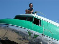 Enjoying OSH from the top of Buffalo AIrways' DC-3