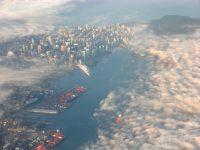 Vancouver Harbour from a WestJet Encore Q400