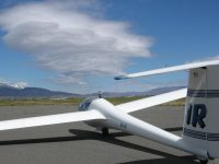 "LS-4a after a ""wave"" flight in Minden NV"