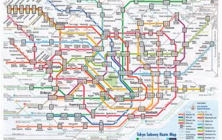 Daunting, isn't it? 40 million passengers a day use the Tokyo transit system. Image: Tokyo Metro