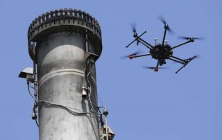 In the energy sector, UAVs are particularly well suited to performing flare stack inspections. Photo: Total Safety/Era