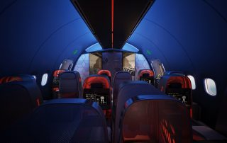 Teague and Nike collaborated on this 'Athlete's Plane' interior concept. Photo: Teague
