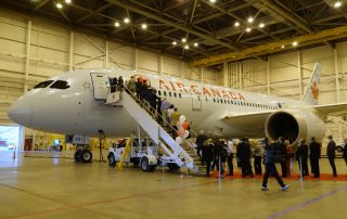 Air Canada's first 787-8, open for tours at YYZ.