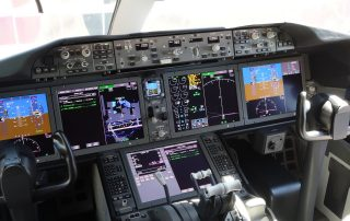 The flight deck of Air New Zealand's first Boeing 787-9.