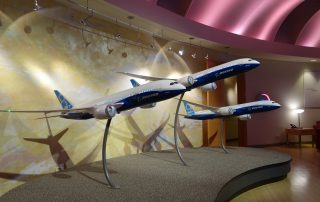 Boeing's Dreamliner Gallery is located near the 787 assembly building in Everett, Washington.