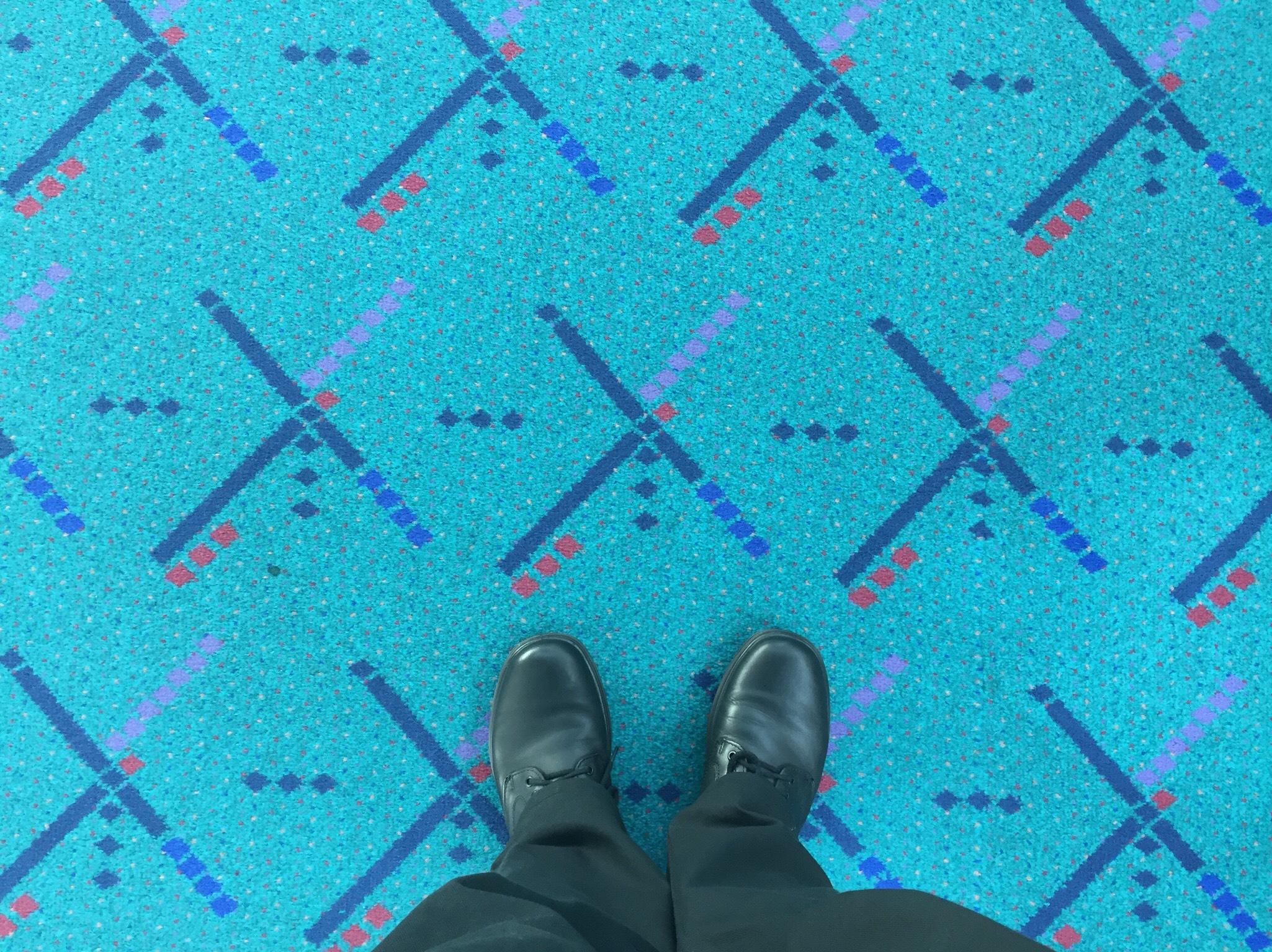 Portland Airport - PDX's original carpet design