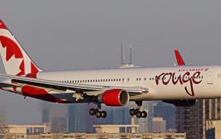 Air Canada rouge 767-300 on final at YYZ. Photo: Tom Podolec