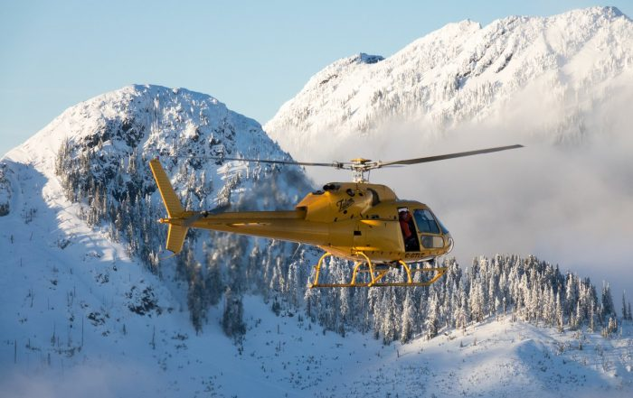 Talon Helicopters TwinStar over Vancouver's North Shore mountains. Photo: Pete Cline