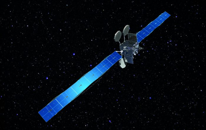 If you could see it, 22,000 miles in space, this is what ViaSat-2 might look like. Image: ViaSat/NASA