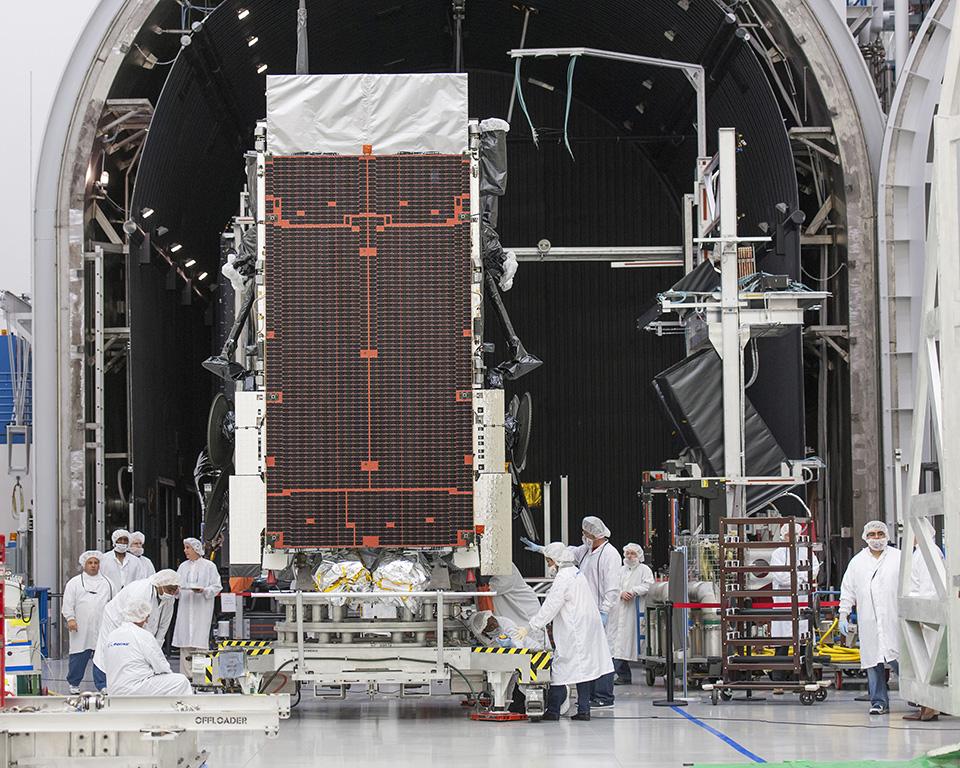 All satellites undergo extensive testing. Photo: Boeing