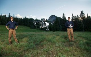 The one-year pilot project will evaluate the effectiveness and the functionality of UAVs in search-and-rescue. Photo: Hummingbird Drones