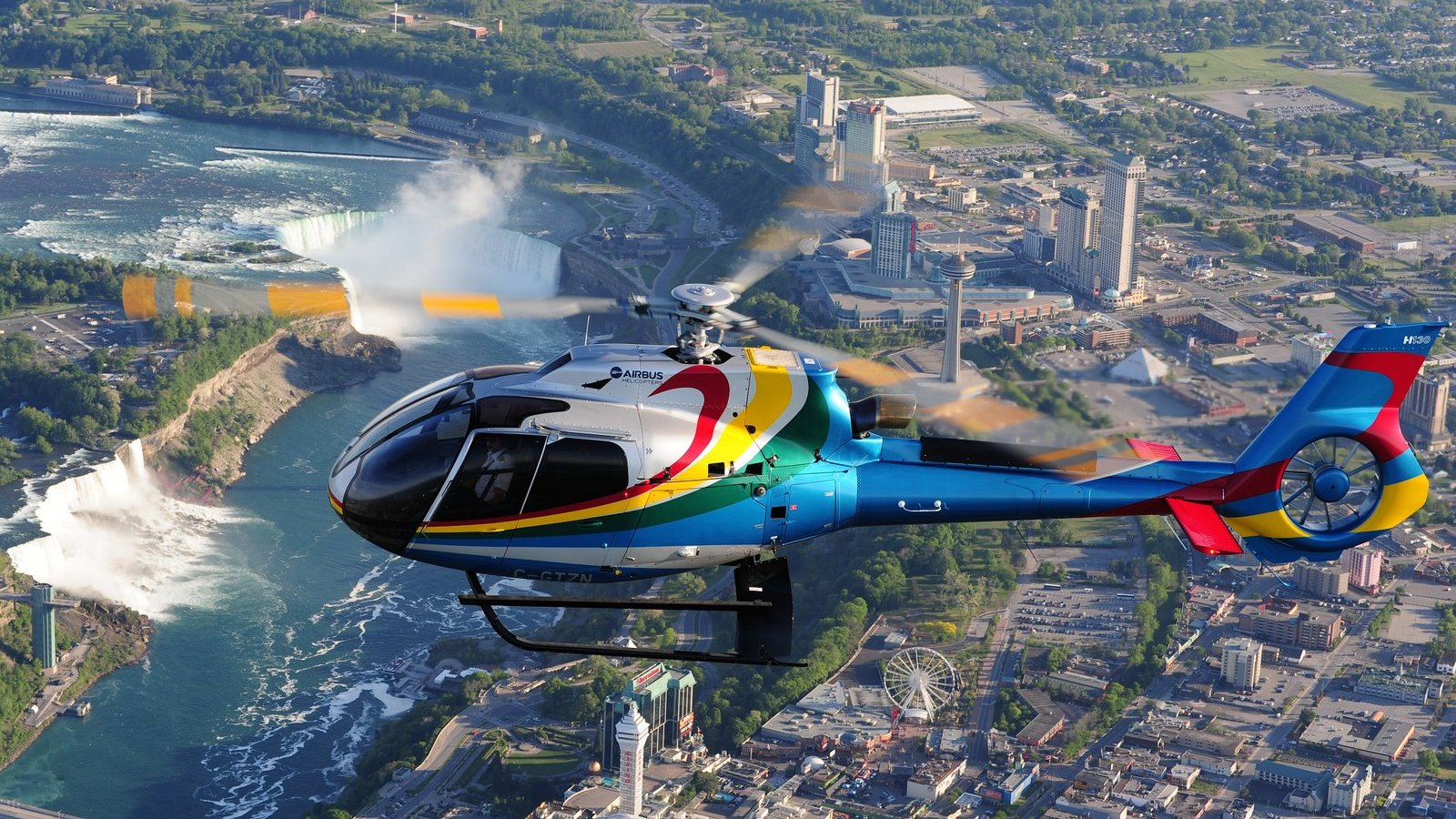 Niagara Helicopters flies 100,000 guests over Niagara Falls every year. Photo: Mike Reyno