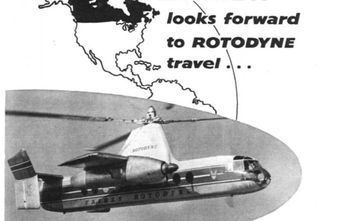 Rotodyne ad from Flight International, Jan. 23, 1959
