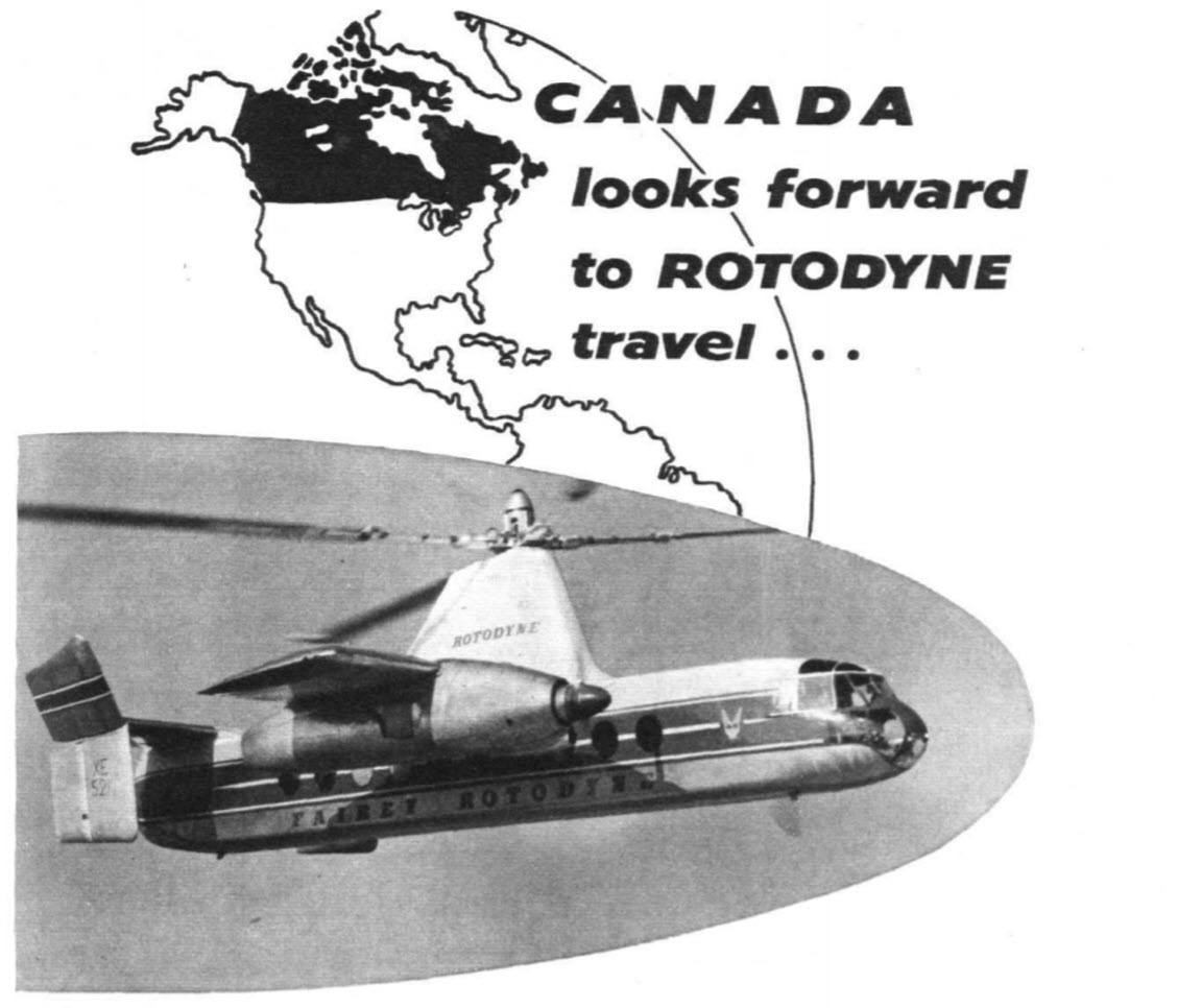 Rotodyne ad from Flight International, Jan. 23, 1959