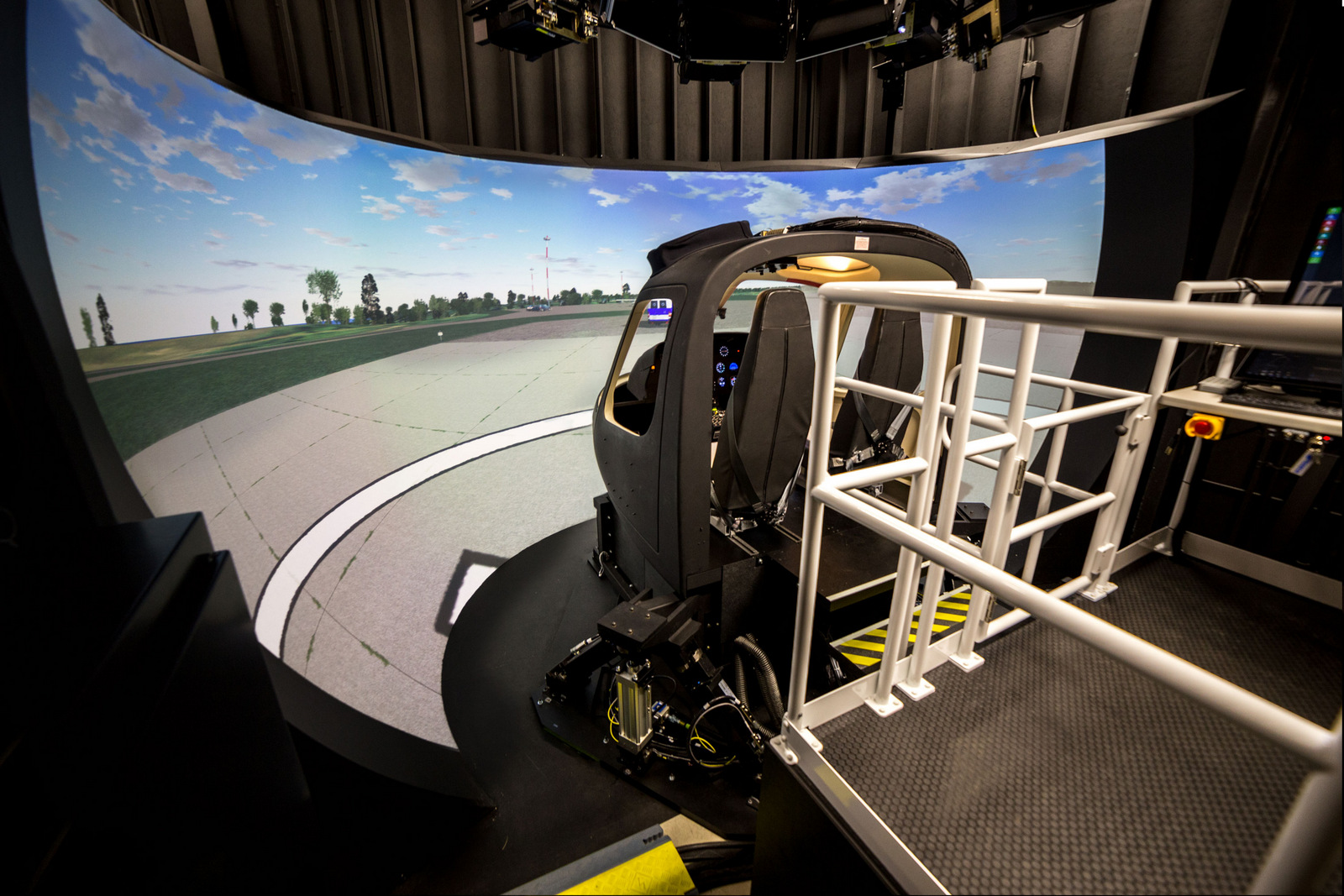 Frasca's Airbus Helicopters AS350 simulator. Photo: Frasca