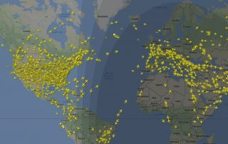 Flightradar24 tracks aircraft, worldwide. Image: FR24