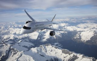 An incredible photo of the Air Canada 787-9 over the West Coast mountains. Photo: Brian Losito / Air Canada