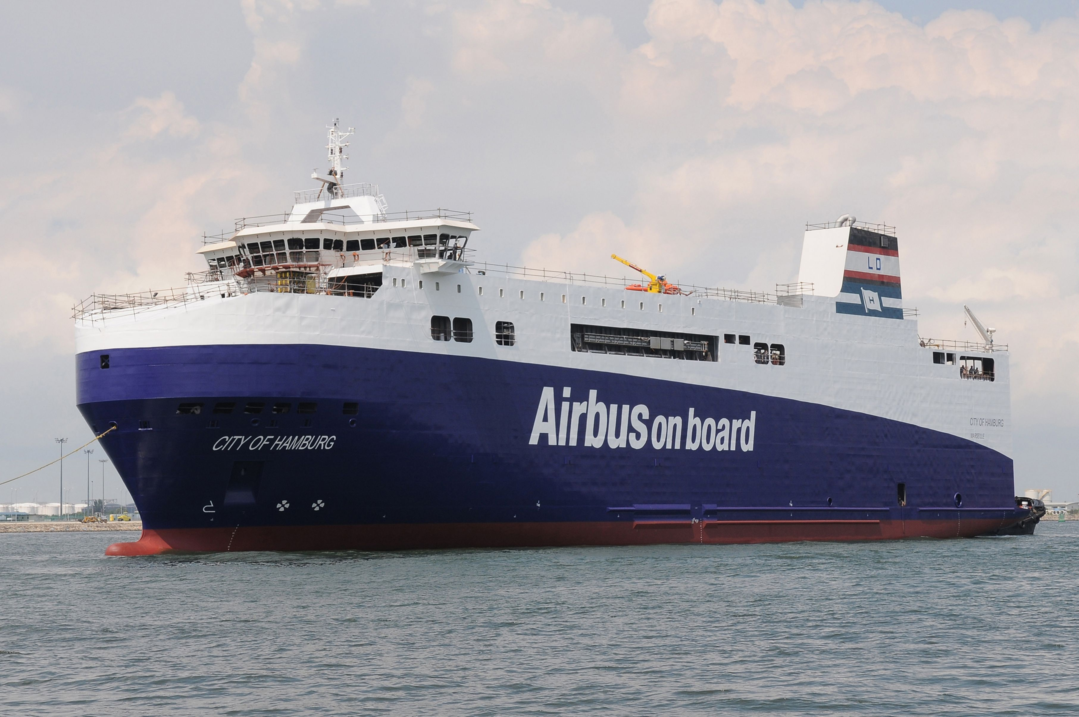 The parts too big to travel by air are transferred to France on specially designed vessels. Photo: Airbus