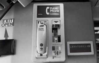 The Airfone first showed up on cabin bulkheads, before moving to passengers' seats. Image: APEX Experience