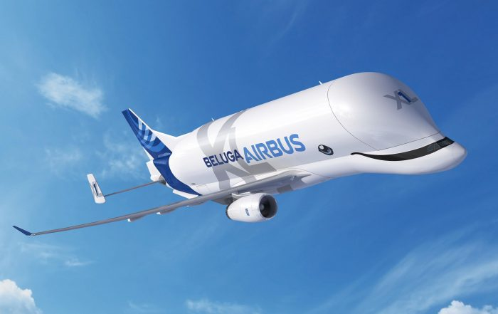 The new Airbus Beluga XL will fly with a big smile! Image: Airbus