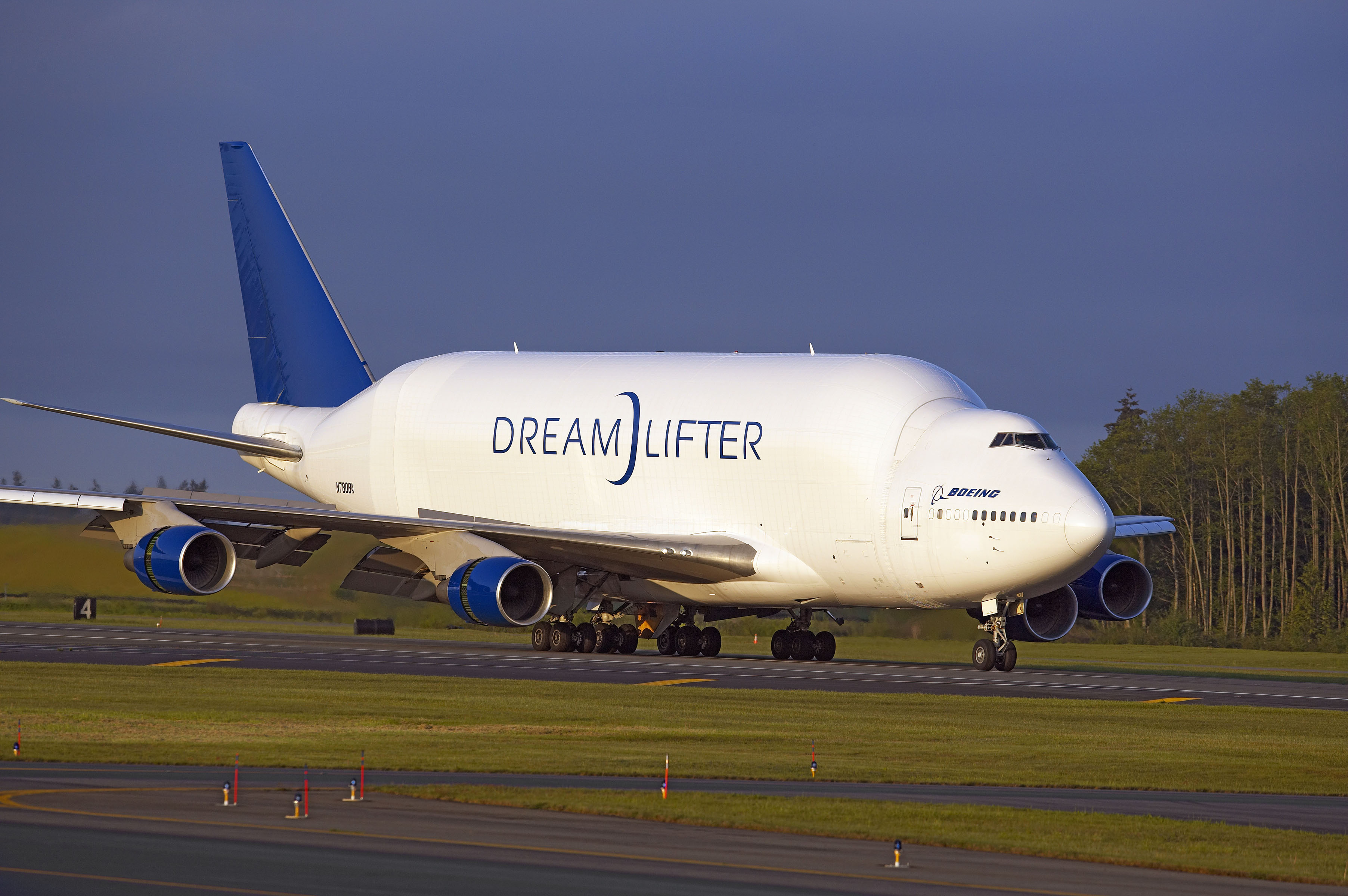 The Boeing Dreamlifter shuttles components for the 787 around the world. Photo: Boeing