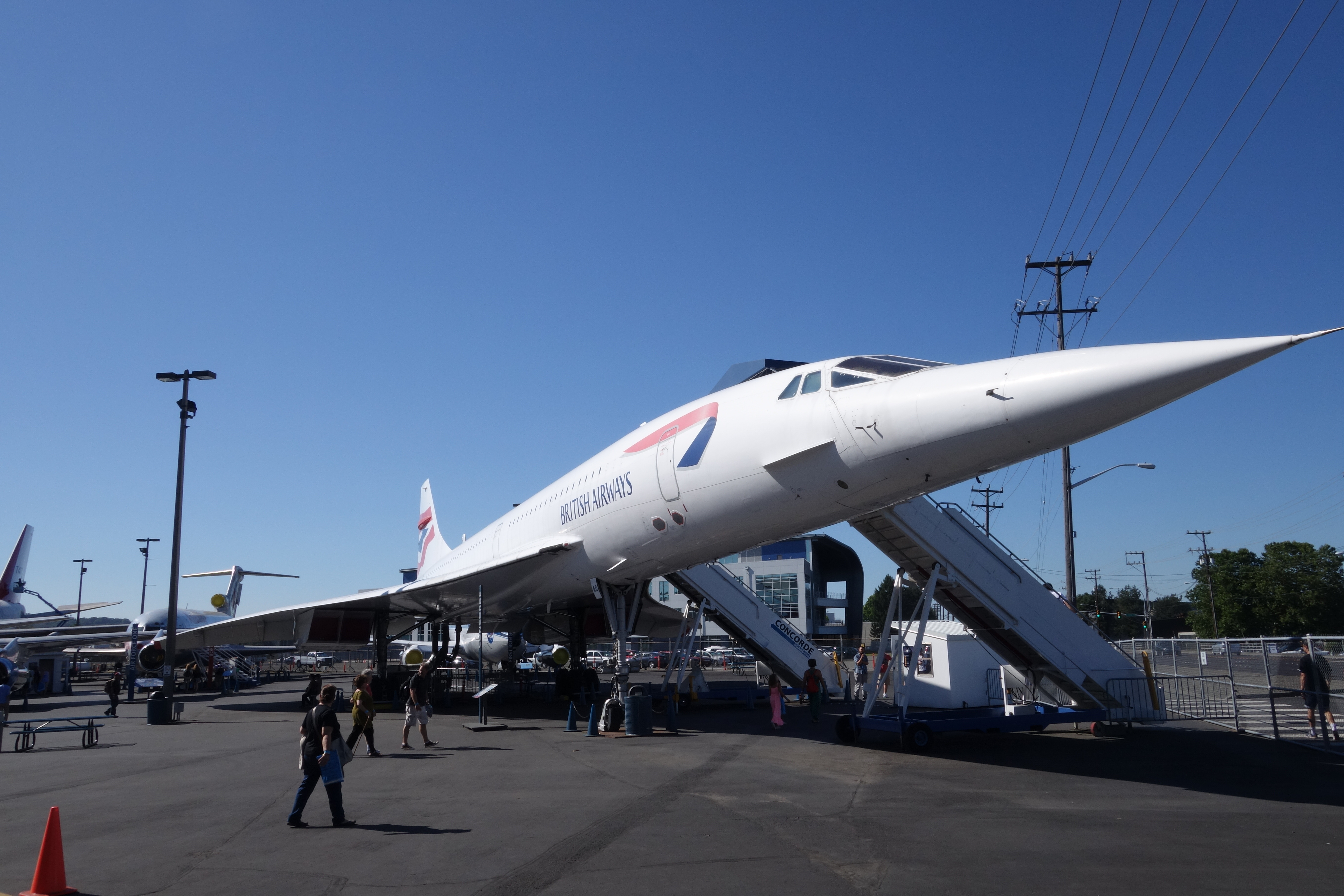 British Airways Concorde G-BOAG is open to visitors at the Museum of Flight in Seattle.