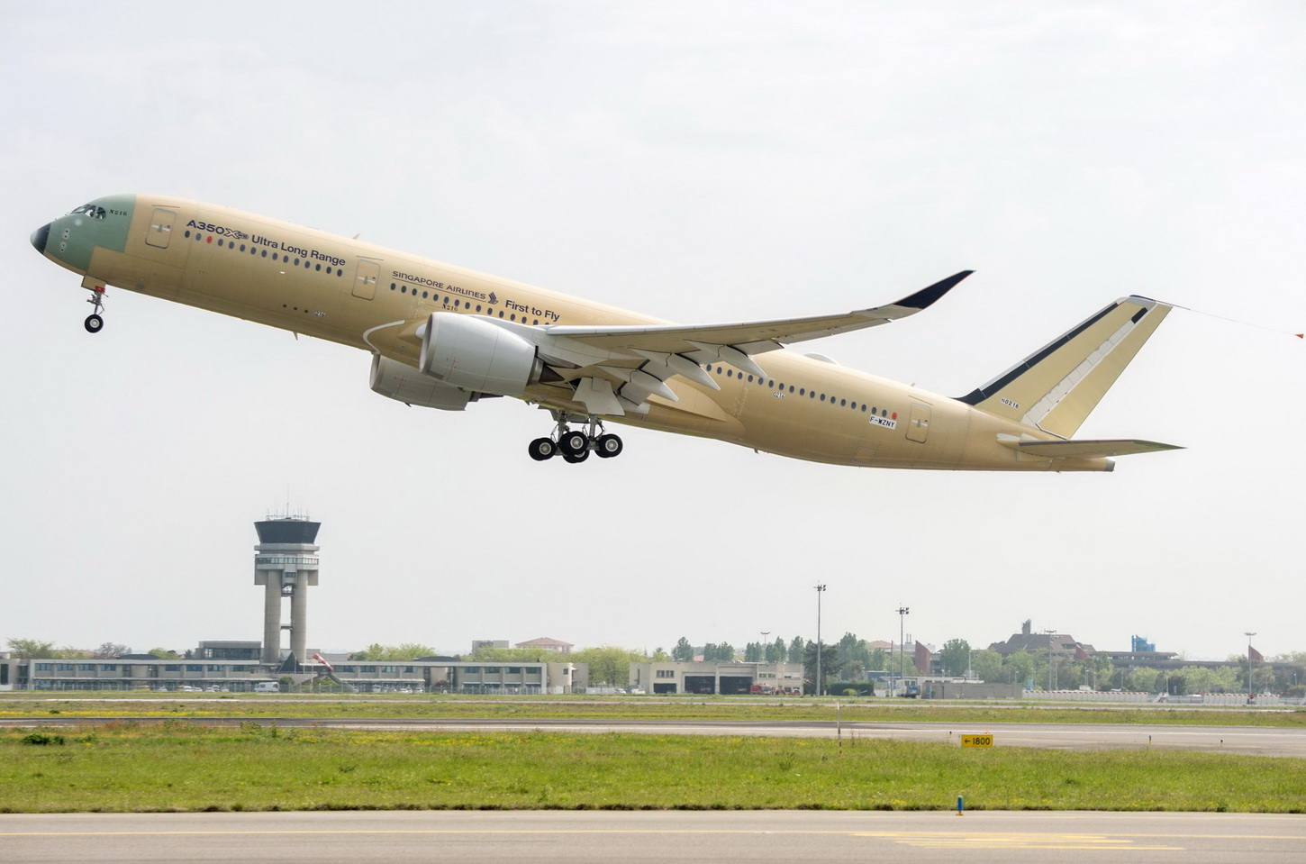 The first test flight of the new Airbus A350-900ULR. Photo: Airbus