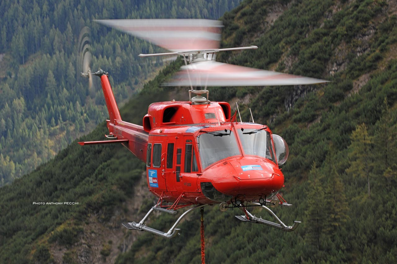 The company's medium-lift capabilities are provided by two Bell 212HPs and four Bell 412s. Photo: Anthony Pecchi