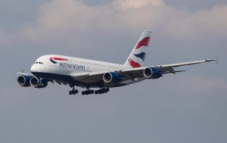 British Airways A380 on final approach into London Heathrow. Photo: Nick Morrish/British Airways
