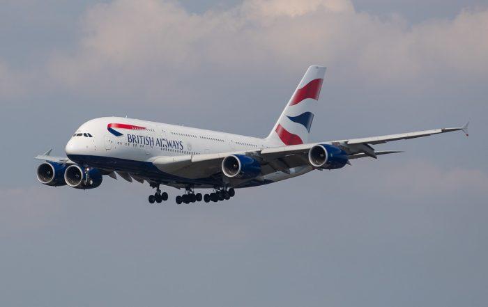 British Airways A380 on final approach into London Heathrow. Photo: Nick Morrish/British Airways