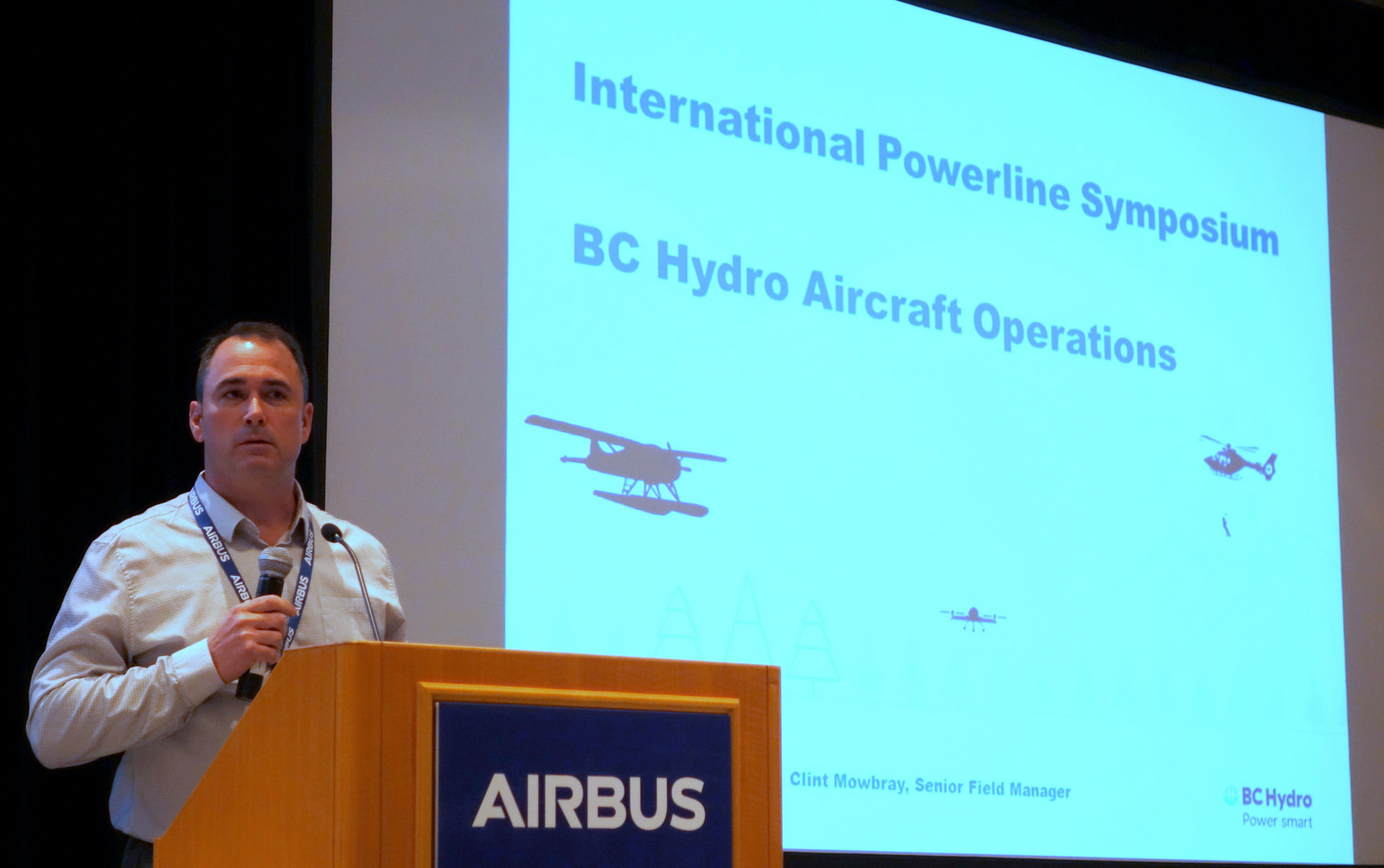 "Clint Mowbray, senior field manager for BC Hydro's aircraft operations department, reviewed the importance of the ""four pillars"" of an SMS at this year's symposium."