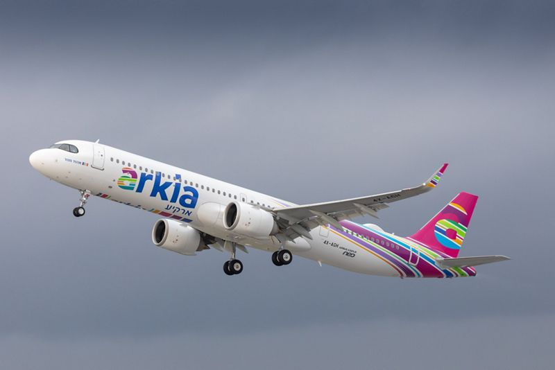 The first Airbus A321LR on its delivery flight to Arkia Airlines. Photo: Airbus