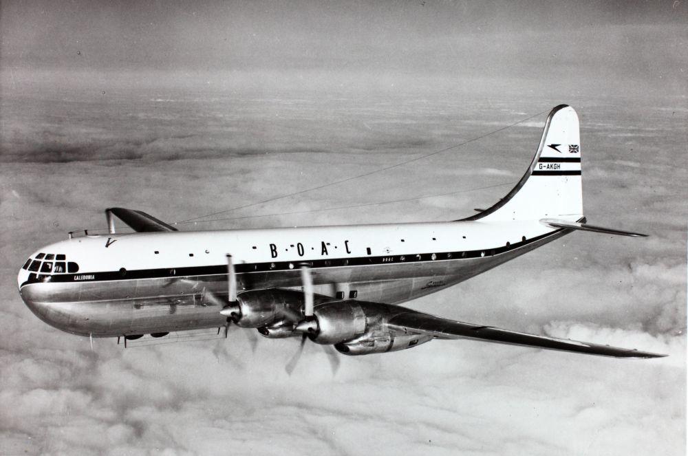BOAC flew the Boeing 377 Stratocruiser.