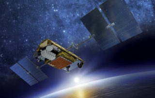 Iridium NEXT satellite, carrying the Aireon piggyback payload. Image: Iridium
