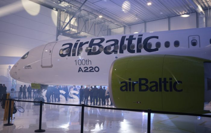 The 100th A220/CSeries produced is also airBaltic's 21st aircraft of the type.